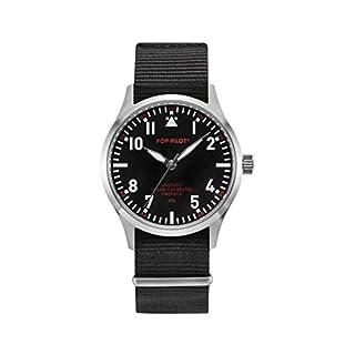 Pop-Pilot Unisex-Armbanduhr JFK Analog Quarz Nylon P4260362630055