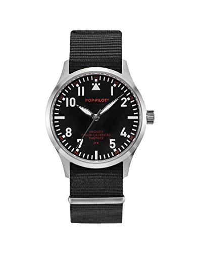 Pop-Pilot Unisex-Armbanduhr JFK Analog Quarz Nylon P4260362630055