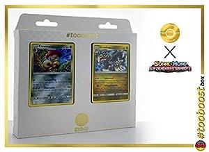 Cavalanzas (Escavalier) 69/111 Y Grandiras (Kommo-o) 77/111 - #tooboost X Sonne & Mond 4 Aufziehen Der Sturmröte - Box de 10 Cartas Pokémon Aleman + 1 Goodie Pokémon