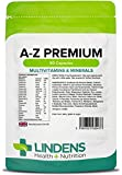 Lindens Multivitamin A-Z Premium Capsules   90 Pack   Perfect Vitamin & Mineral balance of Vitamin A, D, E, C, B1, B2. B3, B5, B6, B12, Folic Acid, Biotin, Calcium, Manganese, Magnesium, Iron, Zinc & Iodine
