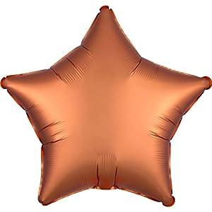 Amscan 3858201 Standard Satin Luxe Amber Stern - Globo de plástico con forma de estrella, color ámbar