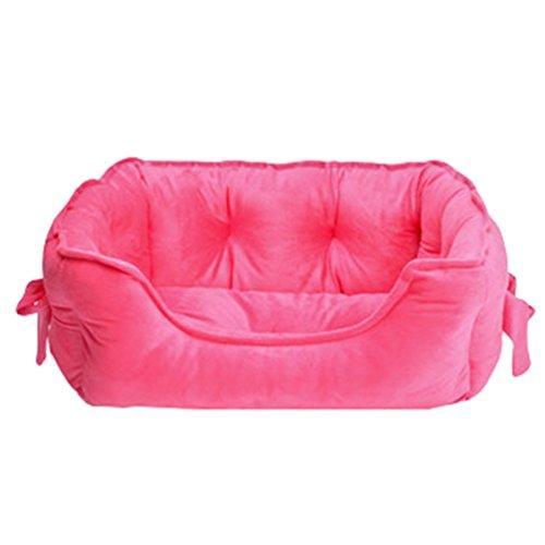 Lvrao animale domestico letto per gatto cane cucciolo divano morbido calda casette, ceste casa cani (rosa, 48 * 38 * 18cm)