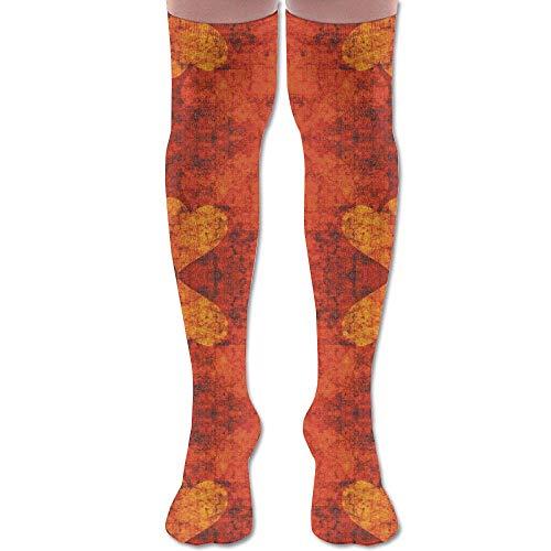 apnzll Graffiti Hearts, S Giftwrap (7369) Knee High Graduated Compression Socks for Unisex - Best Medical, Nursing 50CM