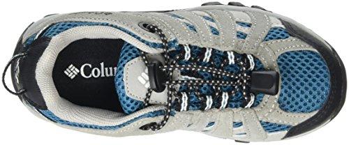 Columbia CHILDRENS REDMOND EXPLORE WATERPROOF, Chaussures de Randonnée Basses mixte enfant Bleu (Dark Compass/White 402)
