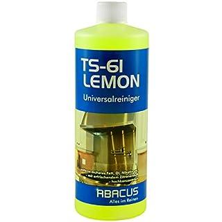 TS-61 LEMON 1000 ml (2661) - Universalreiniger-Konzentrat mit Zitronenduft Universal Reiniger Fettlöser Küchenreiniger Dunstabzugshauben-Reiniger Badreiniger Nikotinentferner Rußentferner ABACUS