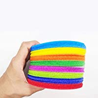 NUOBESTY Carpet Spot Sit Markers, Carpet Gripper Pads Loops Sticker Strong Velcros Self Adhesive Dot Nylon Waterproof Adhesive Fastener Tape Cloth Sticker- 48Pcs, Random Color