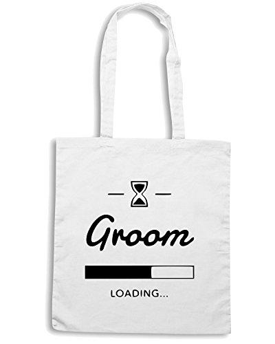 T-Shirtshock - Borsa Shopping MAT0037 Groom loading progress Maglietta Bianco
