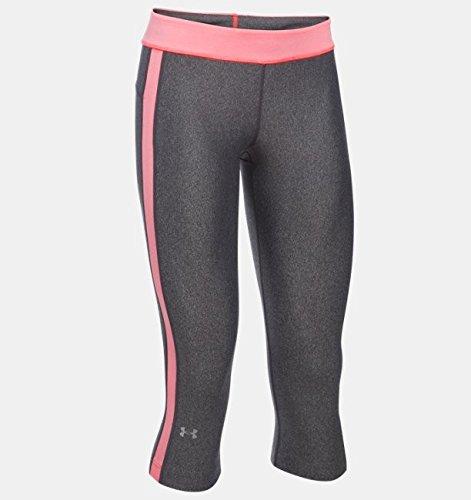 Under Armour Fitness Hose Ua Hg Sport Capri Damen Fitness - Hosen & Shorts, Carbon Heather, L, 1285634 -
