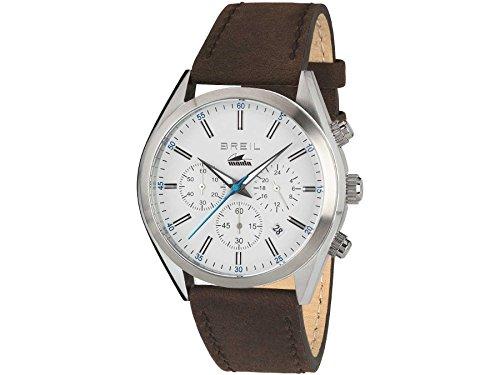 Breil orologio cronografo quarzo uomo con cinturino in pelle tw1609