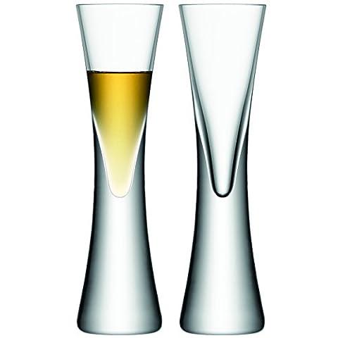 LSA International 50 ml Moya Liqueur Glass, Clear (Pack of 2)