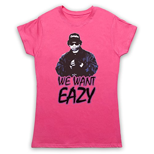 Inspiriert durch Eazy E We Want Eazy Picture Unofficial Damen T-Shirt Rosa