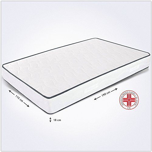Colchn-fuera-tamao-Plaza-y-Media-115-x-190-x-18-cm-ortopdico-con-dispositivo-mdico-Markus-expandido-anticaros-y-funda-antiallergica-transpirable-colchn-plaza-y-medio-fuorimisura-de-poliuretano-para-ca