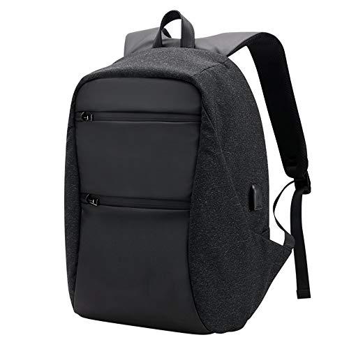 ons Rucksack Business Anti Diebstahl Paket USB Lade Computer Tasche Stadt Reisen Männer Tasche Wasserabweisend (Color : Schwarz, Size : One Size) ()