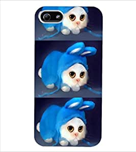 ColourCraft Cute Funny Cat Design Back Case Cover for APPLE IPHONE 5S