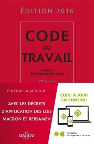 Code du travail par From Dalloz-Sirey