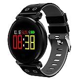 Wawer K2 Smart WatchFarbbildschirm Herzfrequenz Blutdruck Sport IP68 Smartwatch für IOS Android (Grau)