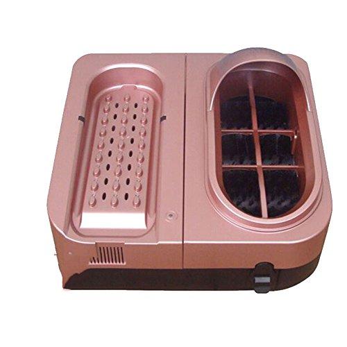 LJHA Sohlenreinigungsmaschine Smart Schuhputzautomat Waschbarer luftgekühlter Schuhpolierer Dust UV Schuhpolierer Gold / pink 45.5 * 44.5 * 30cm Einweg-Schuhüberzieher ( Farbe : Pink )