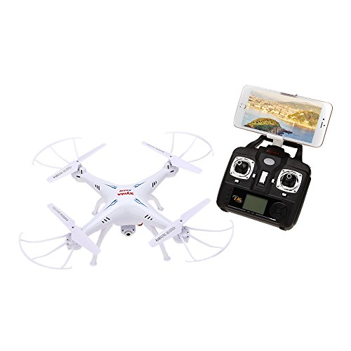 Drohne von Syma X5SW/X5SW-1 - Aktualisierte Lay leafless der X5C Explorers RTF Drone RC Airplane Solidified-nosed on one's feet a winging UFO – 2,4 GHz, 6 Achsen, 4 Kanäle, 3D FPV Quadcopter