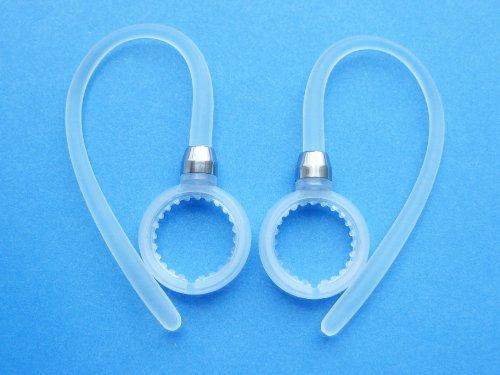 2 Weiß Beweglich Ohrbügel Ohrhaken für Motorola Boom 2+, Boom 2, Boom, HX600, Elite Flip HZ720, H17, H17txt, H19, H19txt, HX550, H525, H520 Wireless Bluetooth Headsets - Boom Wireless Headset