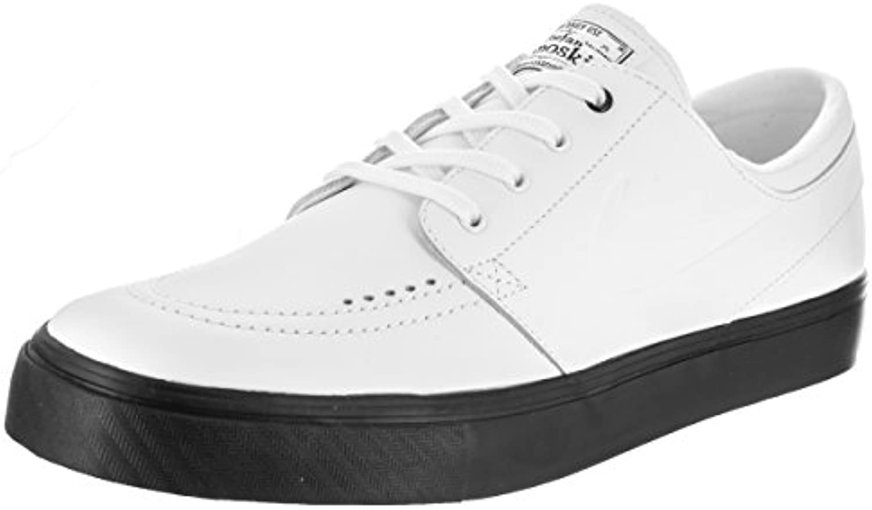 Nike Unisex SB Zoom Janoski Prem Cpsl White/White White Black Skate Shoe 9.5 Men US/11 Women US