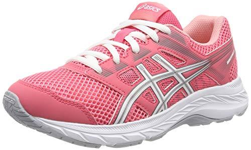 Asics Contend 5 GS, Zapatillas de Running Unisex Niños, Rosa (Pink Cameo/White 701), 40 EU