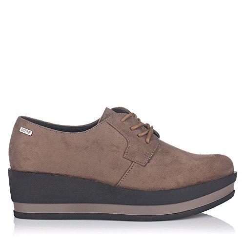 Mtng , Chaussures de ville à lacets pour femme marron Marron 36 Marron