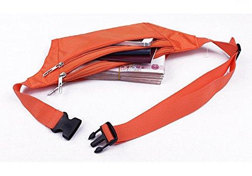 Slim Wasser Widerstand Sportliche Travel Taille Tasche Orange - orange