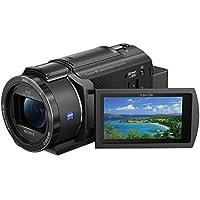 """Sony Handycam FDR-AX43 - Videocámara (pantalla de 3"""" giratoria, grabación 4K Ultra HD, lente Zeiss Vario-Sonnar 26.8 mm, zoom óptico 20x, Balanced Optical SteadyShot, selfies, videos en casa y viajes)"""
