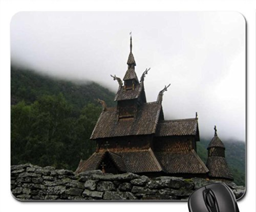 Drempad Gaming Mauspads Custom, Viking Church Mouse Pad, Mousepad (Medieval Mouse Pad) (Medieval Playstation 2)