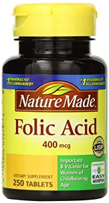 Nature Made Folic Acid, 400 mcg (250 Tablets) from Nature Made