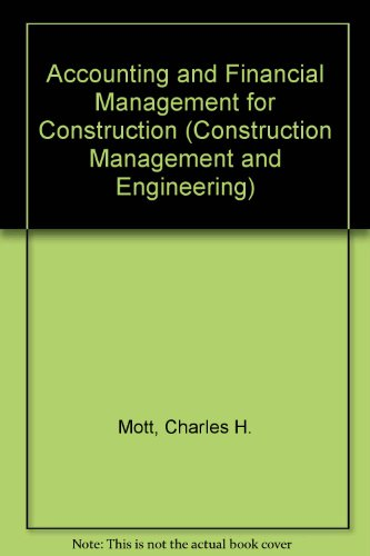 Accounting and Financial Management for Construction PDF Books