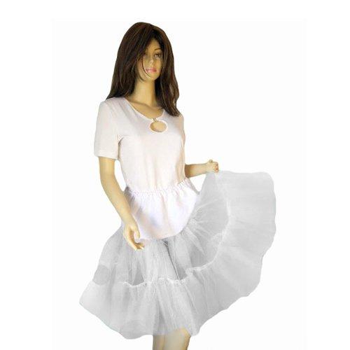 Seruna Petticoat F Tellerrock weiß Kleid Rock Petticoats -