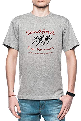 Sandford Fun Run Herren T-Shirt Grau Größe M - Men's T-Shirt Grey - Fuzz-t-shirt Hot
