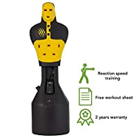 Bruce Lee Free Standing Punching Dummy Target Punch Bag Martial Arts Kickboxing MMA Exercise Torso Training