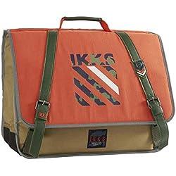 Cartable IKKS 41 cm Army - Orange