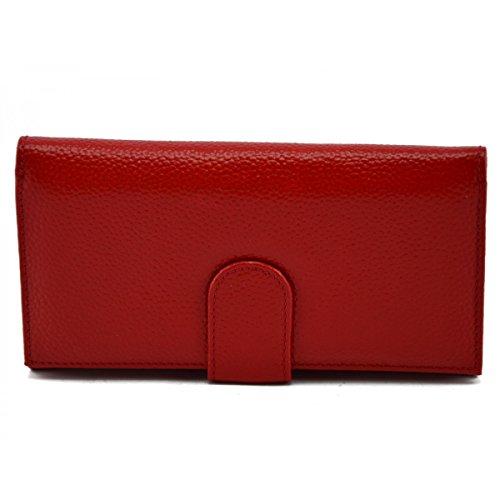 Portemonnaie Aus Echtem Leder Für Damen Farbe Rot - Italienische Lederwaren - Zubehör -