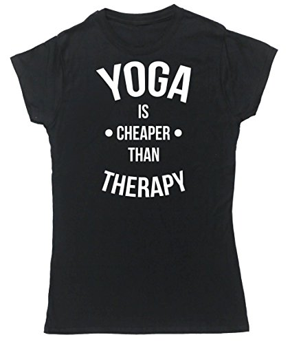 hippowarehouse-yoga-is-cheaper-than-therapy-womens-fitted-short-sleeve-t-shirt