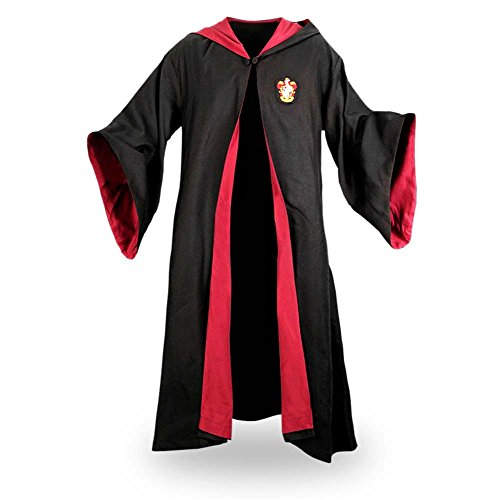 Elbenwald Hochwertige Gryffindor Robe, Harry Potters Umhang als Filmreplik mit Wappen - L