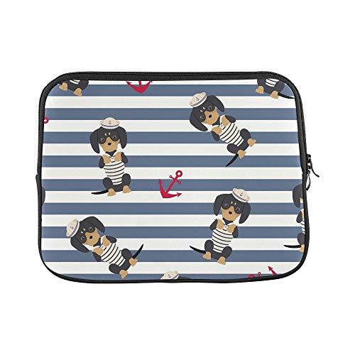 Seemann Teenager Mädchen Kostüm Für - JOCHUAN Design Benutzerdefinierte Dackel Welpen Sailorman Kostüm Anker Um Hülse Weiche Laptop Tasche Tasche Haut Für MacBook Air 11