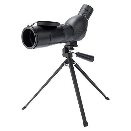 Pinty Spektiv 15-45 x 60 Spotting Scope 45 Grad abgewinkelt Okular Wasserdicht mit Stativ und Tasche für Vogelbeobachtung Bogenschießen Reisen Garten Natur