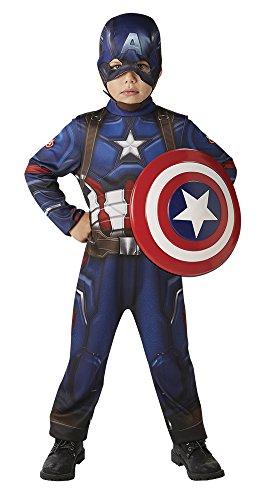 Avengers Disfraz Capitan America Classic Con Escudo Cw En Caja Inf Talla S S Rubie's Spain 620772-S