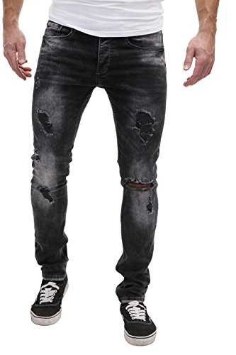 MERISH Jeans Hommes Slim Fit déchiré non patché used Look Modell J2074