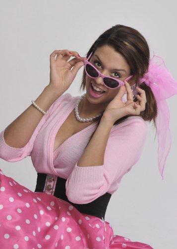 50er Jahre Rock'n'Roll Pink Diamante Sonnenbrille