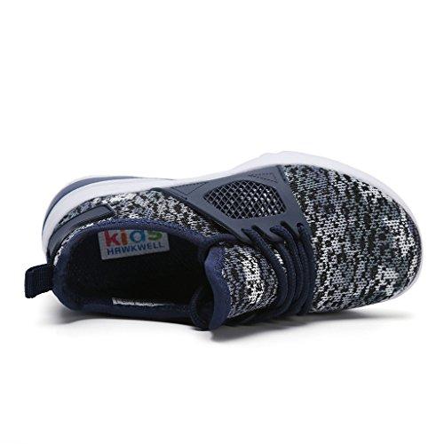 Hawkwell Sportschuhe Laufschuhe Unisex-Kinder Marineblau