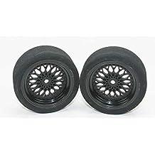 Talla 38 EU  talla 1 UK XUNJIAJIE 4PCS Llantas de rueda Beadlock de 2.2 pulgadas para 1/10 RC Crawler Auto modelo Wraith Axial SCX10 D90 (Negro) ZCA9jfr