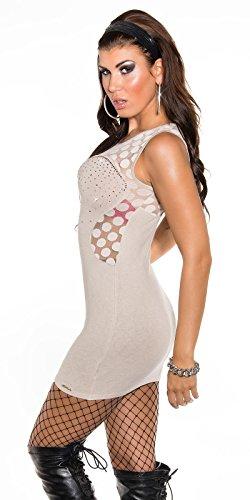 In-Stylefashion - Robe - Femme Beige Beige Beige - Beige