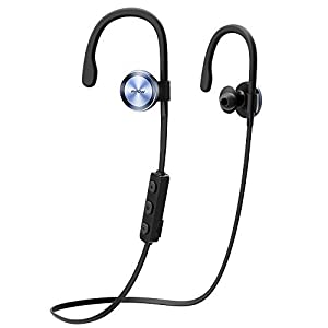 Casque Bluetooth Sports Mpow autour casque fonctionnant sans fil Over-Ear Antisueur Écouteurs pour la course à pied Gym avec micro pour iPhone 7 7 Plus 6S, Huawei P9, etc. (Bluetooth 4.1, aptX, Réduction du bruit CVC 6.0, CSR Chip)