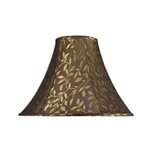 Aspen Creative 30046 Bell Shaped (Spider) Shade In Brown by Aspen Creative