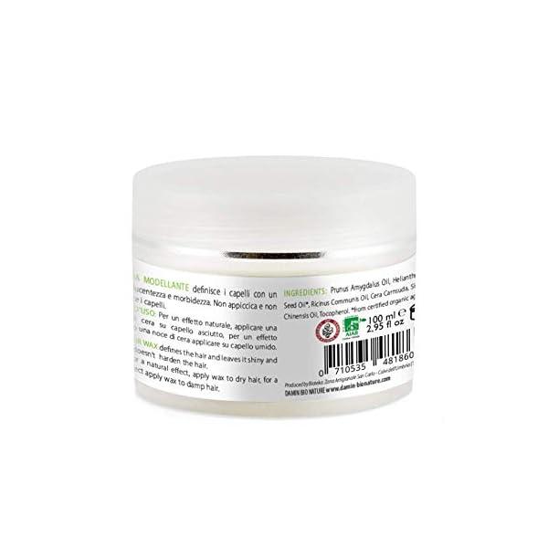 Damin Bio Nature Pomada Pelo Natural Crema fijación media y brillo suave para moldeado del cabello Hombre Mujer Niños y…
