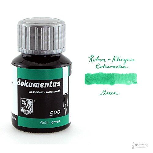 Rohrer & Klingner dokumentus grün, Dokumententinte 50ml Glasflakon - 100 Magenta Tinte